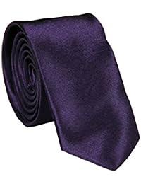 Cravate Violet foncé, loisirs, bureau, bout en pointe 5 cm fil de polyester