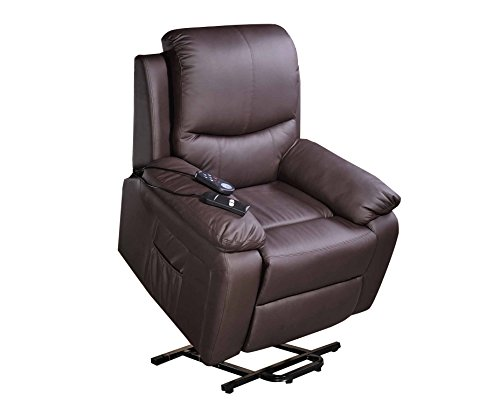 ECO-DE Sillón Masajeador Levantapersonas VibraLuxe, Calor Lumbar ECO-8600UP Color Marrón