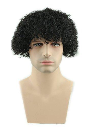 Eseewigs kurze kinky curly perücke menschliches haar afro locken perücken natürlich aussehende (Für Kurze Afro Männer Perücken)