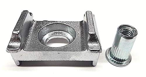 10x Aluminium Zaun + Niet M8 Doppelstabmattenzaun Zaunpfosten Halter Befestigung Auflagebock