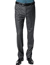 RENÉ LEZARD Herren Hose Schurwolle Freizeithose Unifarben, Größe: 46, Farbe: Grau