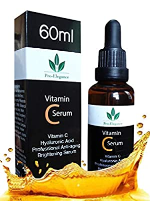 Vitamin C Serum for Face and eyes 20% 60ml with Hyaluronic Acid Vitamin E for Anti-wrinkle Anti aging Dark Circles Fine Lines Acne Sun damaged Skin