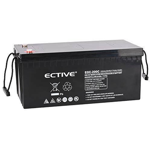 ECTIVE 12V 200Ah Gel Deep Cycle Versorgungsbatterie VRLA Solar Akku Batterie extrem Zyklenfest in 6 Varianten