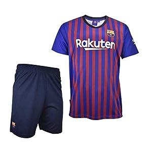 conjuntos: Conjunto Camiseta y Pantalon 1ª Equipación 2018-2019 FC. Barcelona - Réplica Ofi...