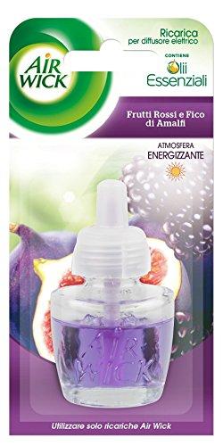 Air Wick - Ricarica per Diffusore Elettrico, Frutti Rossi e Fico di Amalfi - 3 ricariche - Frutta Air