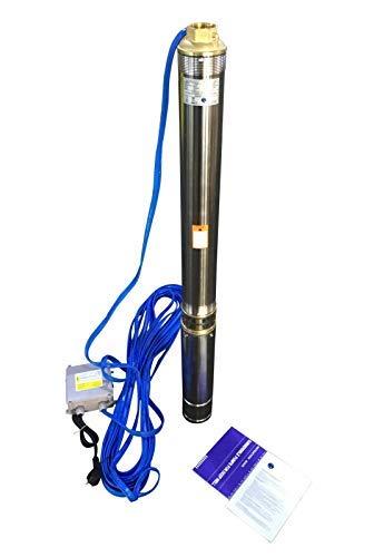 """INOX Tiefbrunnenpumpe Brunnenpumpe Edelstahl 3\"""" 0,75 kW 3780 l/h, Förderhöhe: 85 Meter. Max Druck: 8,4 bar."""