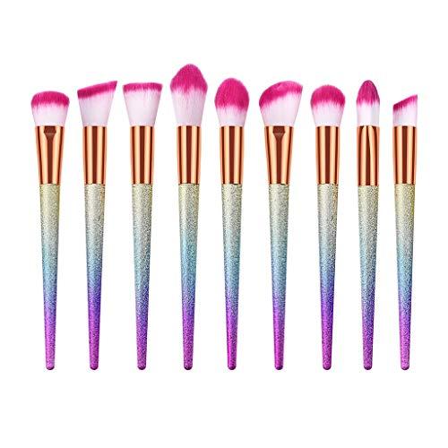 Saingace Make-up Pinsel Set Spitzenkonus-Peeling-Rosa-Bürstensatz mit Kunststoffgriff 9/10/15/16/24...