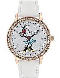 Minnie Mouse Reloj Analógico para Mujer de Cuarzo con Correa en Cuero MN5038