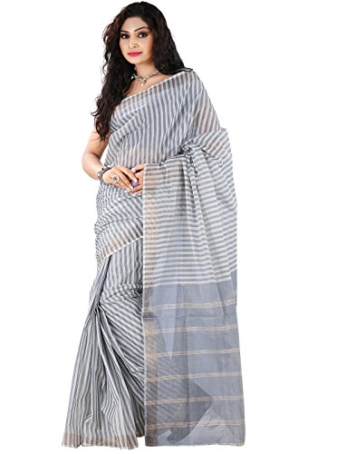 Roopkala Silks & Sarees Cotton Plain Saree (Bl-901 _Grey)