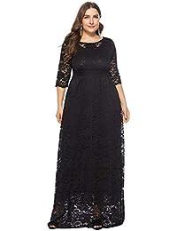 f48a082204 Vestido Encaje Mujer de Fiesta Elegante Largos POLP Talla Grande Vestido de Noche  Invierno Vestido de Novia para Boda Mujer Gorda Mini…