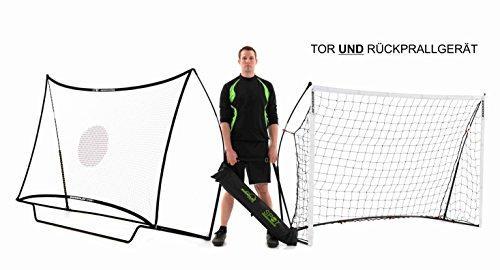 QUICKPLAY Kickster Combo 2,4 x 1,5m Fußballtor & Rebounder - 2