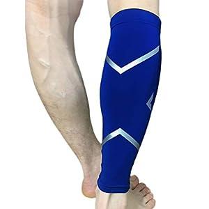 VORCOOL Kompressionsbeinmanschette f Wade Compression Beinmanschette Beinschutz Kniestütze zum Laufen Wandern Outdoor-Sportarten – Größe XL
