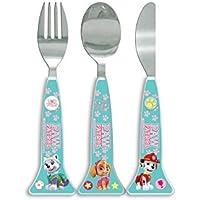 Preisvergleich für OFFIZIELLE PAW PATROL Besteck !! Komplett mit Edelstahl-Messer, Gabel und Löffel