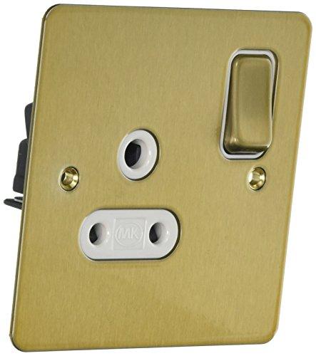 MK Edge k14382sagw 5A Single-Schalter Steckdose mit Doppel Pole-Satin Gold -
