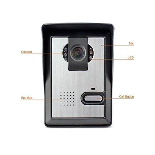 "Amocam 1-Camera 1-LCD Monitor 7"" Video DoorPhone Video Intercom Home Doorbell System IR Night Vision 2-way Hands Free intercom Access Control"