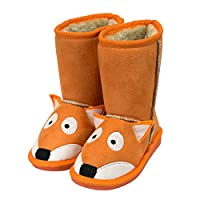 Lazy One Kids Unisex Fox Toasty Toez Slippers Kids