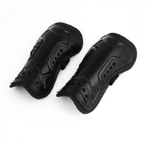 DealMux Sport-elastische Band Hook Schleife Waden Protektor Schienbeinschutz Unterstützung Paar schwarz