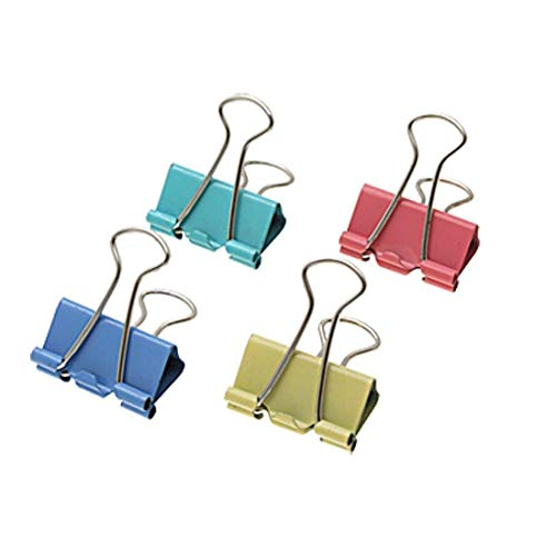 Depory 60 x Mini Office Organisieren Metall Binder Clips 15 mm Farbe kleine Clips