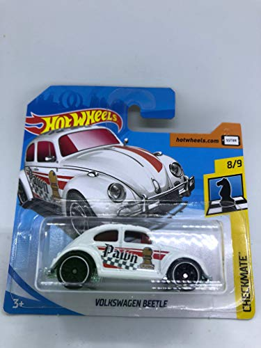 Hot Wheels 2018 Volkswagen Beetle White Checkmate 8/9 364/365 (Short Card)