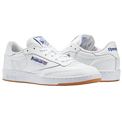 Reebok Jungen Club C 85 Fitnessschuhe, Weiß (Int/White/Royal/Gum 000), 36 EU -