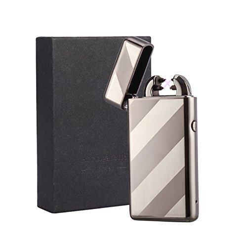Colleer Accendino Elettrico USB Ricaricabile con Doppio Arco Accendino Sigaretta Antivento-Modello 2