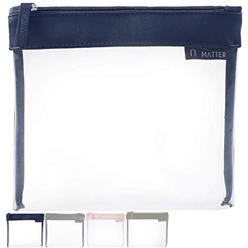 umatter ® Flugzeugbeutel, Kulturbeutel transparent für Flüssigkeiten im Handgepäck mit 6 Reiseflaschen max. 100ml, durchsichtige Kulturtasche, 1 Liter Reiseset, Kosmetiktasche, Reisezubehör