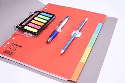 Preisvergleich Produktbild OfficeNerd All-in-one-Set | Bestehend aus: Leitz Ordner + Papier Kariert & Liniert + 3in1 Kugelschreiber + Bleistift + Taschenlocher + Geodreieck + Pagemarker + Register (Blau)