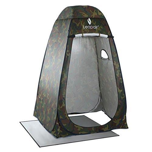 WolfWise Tienda de Campaña Instantánea Tent Abrir Cerrar Automáticamente Pop Up Portable Sirve Para Camping Playa Bosques Zonas de montaña Ducha Aseo Carpas Vestidor Camuflaje