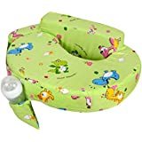 Baby Grow Cotton Fabric Feeding/Nursing Pillow Baby Mother Feeding Pillow Newborn Portable Pillow Perfect Gift For Baby Shower (Green Dino)