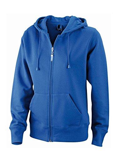 Giacca con cappuccio in resistente felpa Ladies' Hooded Jacket Royal