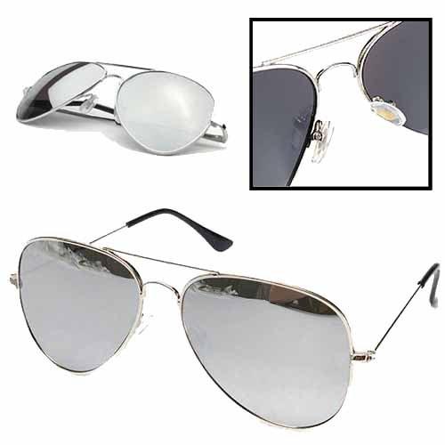 Preisvergleich Produktbild Sonnenbrille Piloten Aviator Brille Spiegelbrille Fliegerbrille Polarisiert UV