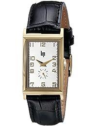 Lip Créateur - 1663032 - Sir Winston Churchill - Montre Homme - Quartz Analogique - Bracelet Cuir Noir