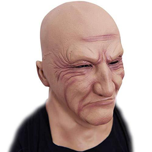 LIYANJIN Masken, Neuheit Latex Gruselige Latexmasken Gesicht Halloween Kostüm Party Horror Unterwelt Boss Latexmaske - Unterwelt Kostüm