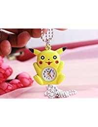 ShopyStore 1 Pikachu Bronze Quartz Pocket Watch Mens Womens Necklace Pendant Analog Watch Gift Kid