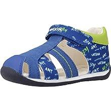 Geox B Each Boy C, Baby Boys' Sandals, Blue (Royal/Lime C4344), 2.5 UK Child
