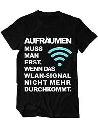 WLAN Aufräumen Fun Shirt lustiges T-Shirt Herren