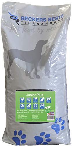 Junior Plus | Beckers Beste Tiernahrung | glutenfreies Hundefutter | Trockenfutter für alle Hunderassen | hohem Fleischanteil in der Trockensubstanz | artgerecht & besonders gut verträglich | Holistic | gesunde Tiernahrung | aus liebe zu Deinem Tier