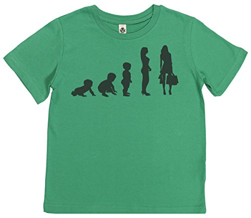 Phunky Buddha - Evolution to a Shopper Kinder T Shirt 9-11 Jahre - Grün (Grünen Buddha T-shirt)
