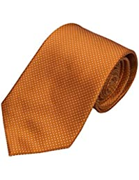 Necktie - Orange base tightly packed with white pin dots Notch