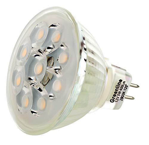 LED 5 W Spot Verre Corps technique de COB blanc chaud MR16/GU5.3 12 V AC/DC