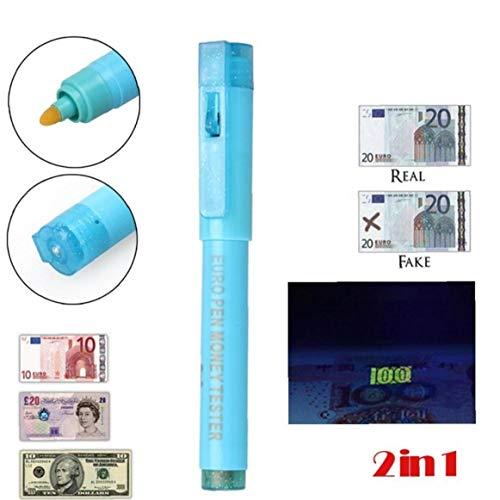 Las Falsificaciones Dinero Pluma Del Detector Con