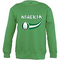 Supportershop–Sweatshirt Nigeria Mixta Infantil, Verde, FR: XL (Talla Fabricante: 10años)