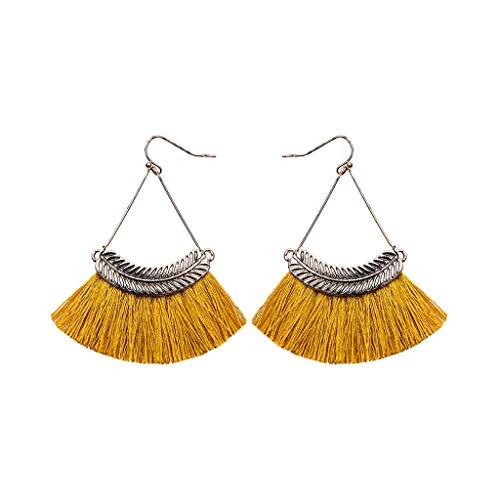 Allegorly Frauen Mode böhmischen Ohrringe Quaste Sektor Ohrringe Vintage Metall Willow Dangle hängende Tropfen Ohrringe Schmuck Ohrklemmen für Mädchen Dame Vintage Willow