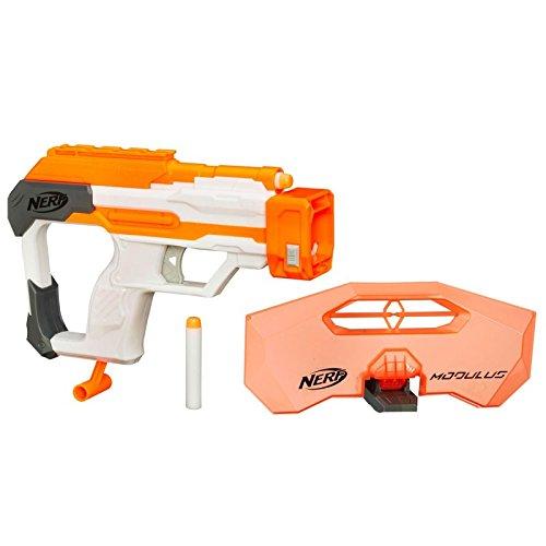 Hasbro Modulus Strike And Defend Upgrade Kit Pistola de juguete - armas de juguete (Pistola de juguete, 8 año(s), Niño, Gris, Naranja, Color blanco, Nerf Modulus, Pegged box)