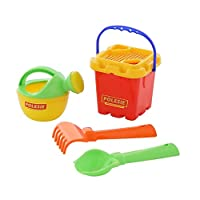 Polesie 7147 No.264 Sieve Shovel Rake No.2 Small Watering Can No. 3-Sets: Fortress Bucket, Multi Colour