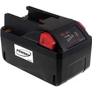 Batterie pour aspirateur sec/humide Milwaukee M28 VC 4000mAh, 28V, Li-Ion [ Batterie outil électroportatif ]
