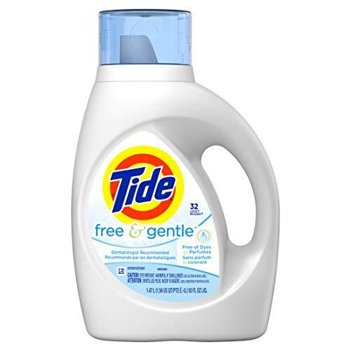 PROCTER & GAMBLE - Liquid Laundry Detergent, Free & Gentle, 50-oz.