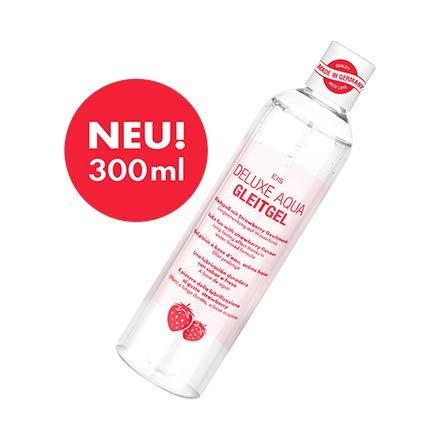 Deluxe Aqua Gleitgel von EIS, wasserbasierte Langzeitwirkung, Erdbeere, 300 ml