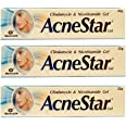 Acnestar Gel  Anti-inflammatory   Anti-bacterial   For Acne, Pimples, Whiteheads And Blackheads   (22 gm x Pack of 3)