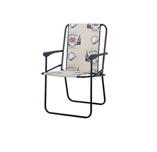 Best 93247023 Chiemsee Ensemble de 4 chaises pliantes Bleu